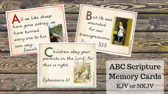 KJV ABC Scripture Memory Cards