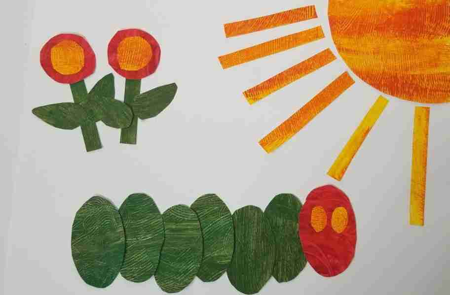Eric Carle inspired art with printable